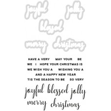 Kaisercraft Decorative Die & Stamp Christmas Greetings
